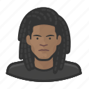 avatar, tee shirt, man, user, dreadlock, male