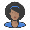 avatar, woman, user, afro, female, hair, style