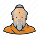 avatar, asian, beard, man, monk, user, buddhist