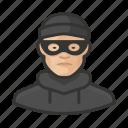 asian, avatar, burglar, criminal, crook, male, thief, user icon