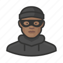 avatar, burglar, criminal, crook, male, man, user