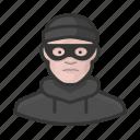 avatar, burglar, criminal, crook, male, thief, user