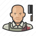 asian, avatar, butcher, male, man, meat, user icon