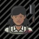 avatar, butcher, female, user, woman icon