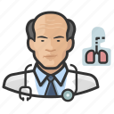 asian, avatar, cardiopulmonologist, doctor, male, man, user icon