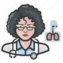 avatar, cardiopulmonologist, doctor, female, user, woman