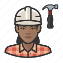 avatar, carpenter, female, user, woman