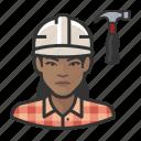 avatar, carpenter, female, user, woman icon