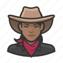 avatar, bandita, cowhand, female, user, woman