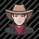 avatar, bandita, woman, user, cowhand, female
