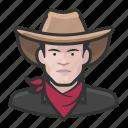 avatar, bandito, cowhand, male, man, user