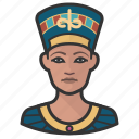 avatar, woman, queen, user, nefertiti, egypt, female