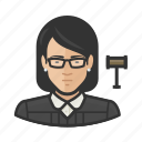 asian, avatar, court, female, judge, jurist, user