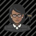 avatar, court, female, judge, jurist, user, woman