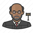 avatar, court, judge, jurist, male, user icon