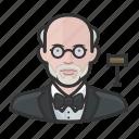 avatar, court, judge, jurist, male, man, user