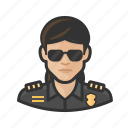 asian, avatar, cop, female, officer, police, user