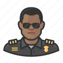 avatar, cop, male, officer, police, user icon