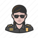 avatar, cop, female, officer, police, user