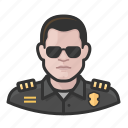 avatar, cop, male, man, officer, police, user icon