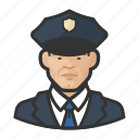 asian, avatar, male, man, officers, police, user