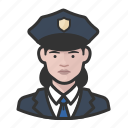 avatar, female, officers, police, user, woman