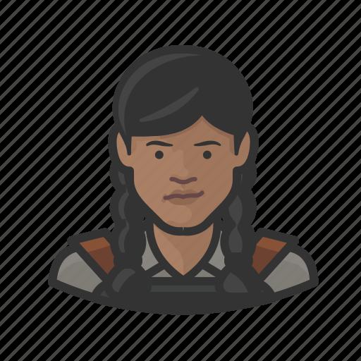 avatar, blacksmith, female, millennial, user, woman icon