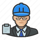 avatar, asian, man, hardhat, user, building inspector, male