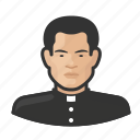 asian, avatar, bishop, catholic, clergy, man, priest, user icon