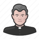 avatar, bishop, catholic, clergy, male, priest, user