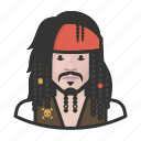 avatar, carribean, jack sparrow, user, celebrity, pirate