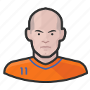avatar, dutch, footballer, netherlands, robben, soccer, user