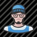 avatar, beanie, hipster, man, millennial, user