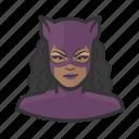 avatar, catwoman, costume, purple, superhero, user