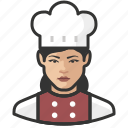 asian, avatar, chef, female, user, woman