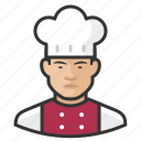 asian, avatar, chef, male, man, user icon