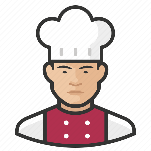 Asian, avatar, chef, male, man, user icon - Download on Iconfinder