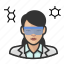 asian, avatar, chemist, female, scientist, user, woman