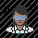 avatar, chemist, female, scientist, user, woman icon