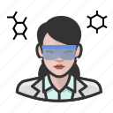 avatar, chemist, female, scientist, user, woman