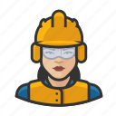 airport, asian, avatar, construction, female, user, woman