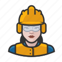 airport, avatar, construction, female, user, woman