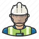 asian, avatar, construction, hardhat, male, man, user