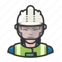 avatar, construction worker, hardhat, user, woman