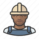 avatar, construction worker, male, man, millennial, user icon