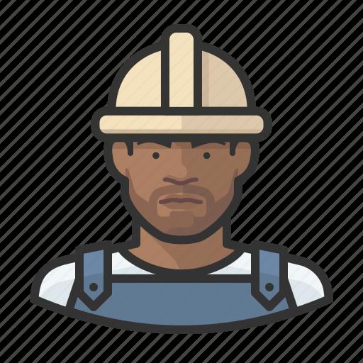 avatar, construction worker, male, man, millennial, user icon