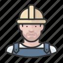 avatar, construction, hardhat, male, man, user icon