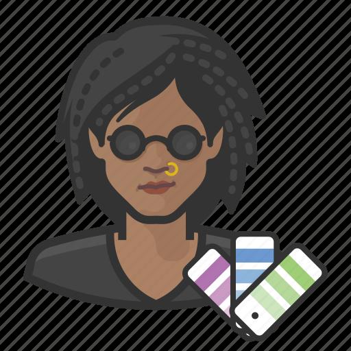 avatar, designers, female, graphic designer, millennial, user icon