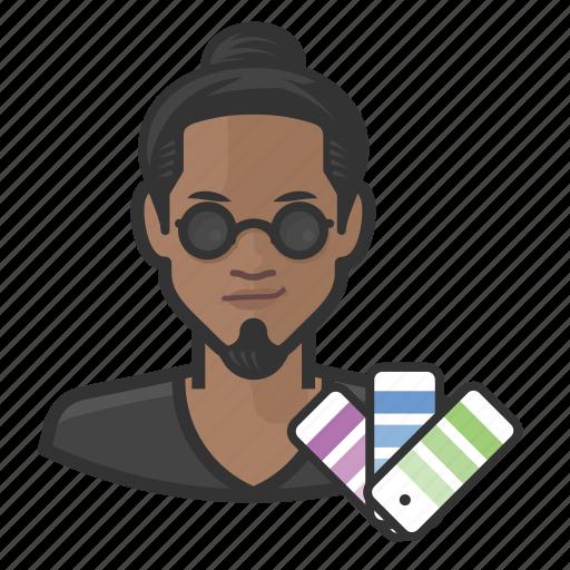 avatar, graphic designer, male, man, millennial, user icon