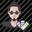 avatar, graphic designer, male, man, millennial, user
